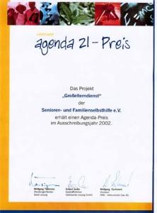 Agenda 21 - Preis 2002