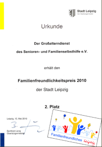 Familienfreundlichkeitspreis 2010